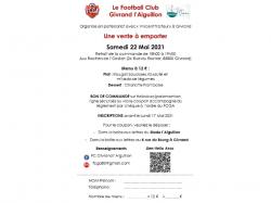 Vente à emporter FCGA samedi 22 mai 2021